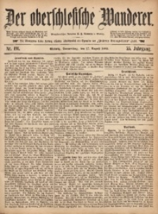 Der Oberschlesische Wanderer, 1882, Jg. 55, Nr. 191