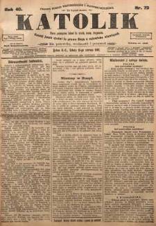 Katolik, 1907, R. 40, nr 72