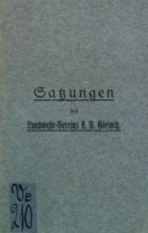Satzung des Landwehr-Vereins E. V. Gleiwitz