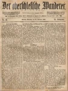 Der Oberschlesische Wanderer, 1883, Jg. 55, Nr. 47
