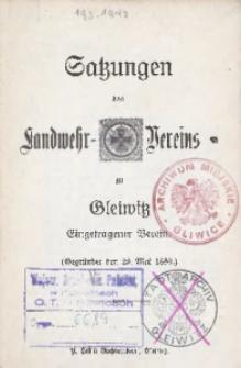 Satzungen des Ladwehr-Vereins zu Gleiwitz. (Gegründet den 29. Mai 1880.)