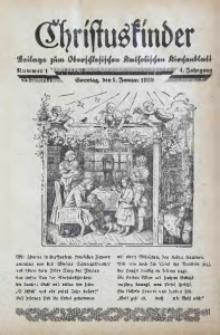 Christuskinder. Beilage zum Oberschlesischen Katholischen Kirchenbaltt, 1939, Jg. 4, Nr. 1