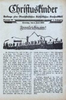 Christuskinder. Beilage zum Oberschlesischen Katholischen Kirchenbaltt, 1939, Jg. 4, Nr 23