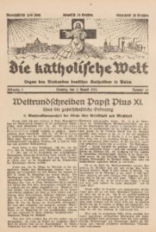 Die Katholische Welt, 1931, Jg. 6, Nr. 31