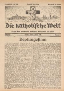 Die Katholische Welt, 1932, Jg. 7, Nr. 4