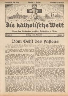 Die Katholische Welt, 1932, Jg. 7, Nr. 10
