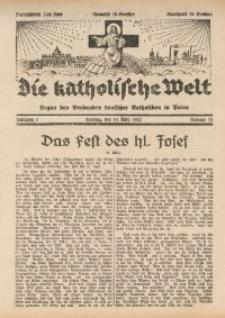 Die Katholische Welt, 1932, Jg. 7, Nr. 11