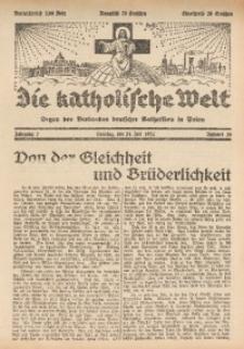 Die Katholische Welt, 1932, Jg. 7, Nr. 30