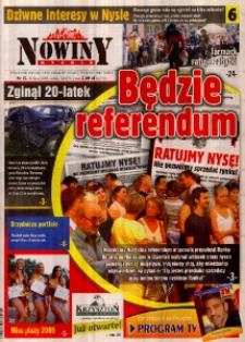 Nowiny Nyskie 2009, nr 31.