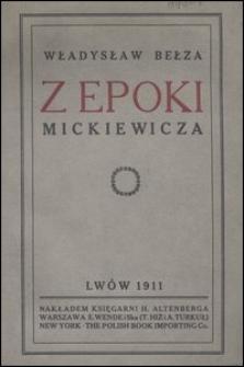 Z epoki Mickiewicza