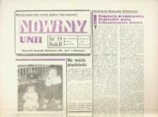 """Nowiny Unii : miesięcznik Samorządu Robotniczego ZPDz """"Unia"""" w Głubczycach. R. 2, nr [8] 19."""