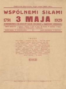 Wspólnemi Siłami 3 maja 1791- 1929. Jednodniówka młodzieży szkół średnich w Dąbrowie Górniczej