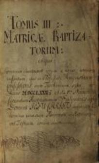 Księga chrztów Parafii Ewangelicko-Augsburskiej w Cieszynie, T. 3, 1781-1807, sygn. 1050