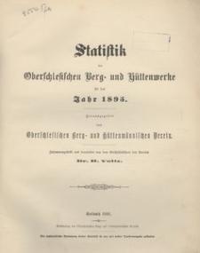 Statistik der Oberschlesischen Berg- und Hüttenwerke für das Jahr 1895