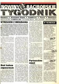Nowiny Raciborskie. R. 4, nr 33 (183) [182].