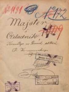 Majster i czeladnik. Komedya w dwóch aktach J. Korzeniowskiego