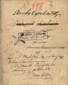 Roszko Cymbałek (Tobiaszek fatałaszek), muzykalne quodlibet we trzech aktach z niemieckiego tłumaczenia Dominika Jakubowicza 81