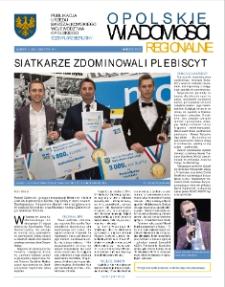 Opolskie Wiadomości Regionalne : publikacja Urzędu Marszałkowskiego Województwa Opolskiego 2019, nr 1 (166).