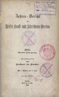 Jahres-Bericht des Neisser Kunst- und Alterthums-Vereins, 1900, Jg. 4