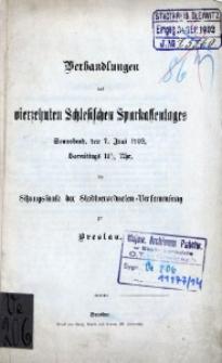 Verhandlungen des 14. Schlesischen Sparkassentages. Sonnabend, den 7. Junii 1902, [...] zu Breslau