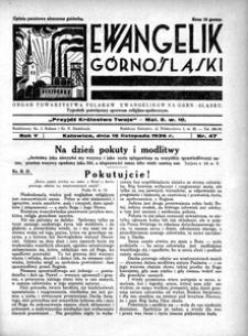 Ewangelik Górnośląski, 1936, R. 5, nr 47