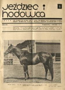 Jeździec i Hodowca, R. 16 (1937), Nry 1-9
