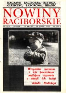 Nowiny Raciborskie. R. 1, nr 18.