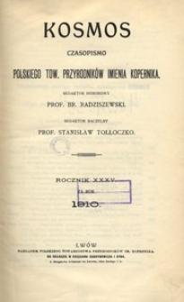 Kosmos, 1910, R. 35