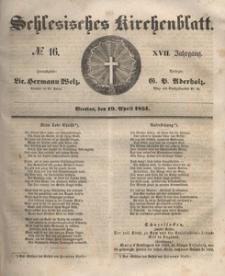 Schlesisches Kirchenblatt, 1851, Jg. 17, nr 16