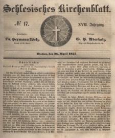 Schlesisches Kirchenblatt, 1851, Jg. 17, nr 17