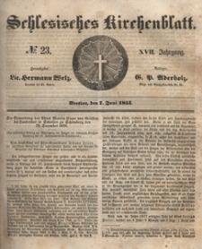 Schlesisches Kirchenblatt, 1851, Jg. 17, nr 23
