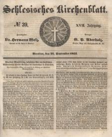 Schlesisches Kirchenblatt, 1851, Jg. 17, nr 39