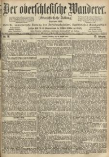 Der Oberschlesische Wanderer, 1902, Jg. 75, No. 191