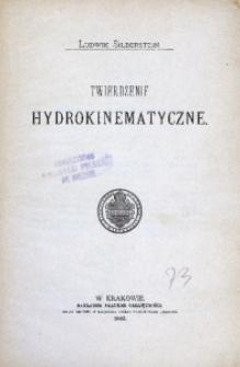 Twierdzenie hydrokinematyczne