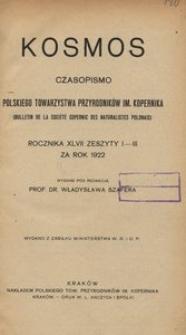 Kosmos, 1922, R. 47, z. 1/3