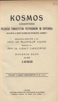 Kosmos, 1922, R. 47, z. 4