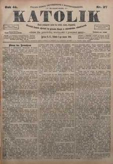 Katolik, 1911, R. 44, nr 27