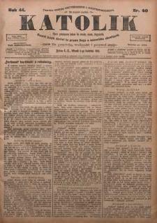 Katolik, 1911, R. 44, nr 40