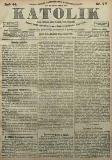 Katolik, 1911, R. 44, nr 77