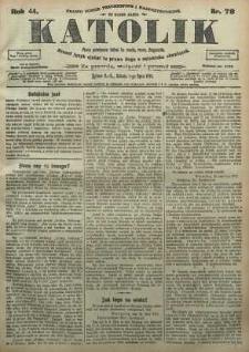 Katolik, 1911, R. 44, nr 78
