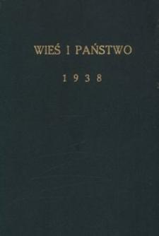 Wieś i Państwo, 1938, R. 1, nr 1