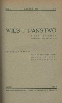 Wieś i Państwo, 1938, R. 1, nr 3