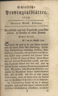 Schlesische Provinzialblätter, 1795, 21. Bd., 2. St.: Februar