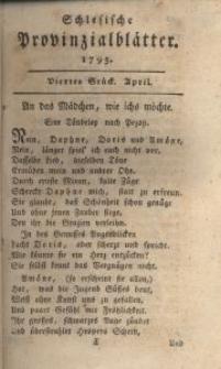 Schlesische Provinzialblätter, 1795, 21. Bd., 4. St.: April