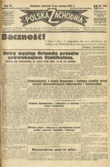Polska Zachodnia, 1931, R. 6, nr 149