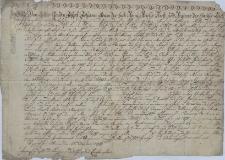 Odpis pisma Józefa Jana Adama Liechtensteina, księcia opawskiego i karniowskiego z 28/10.1726 r., którym daruje konwiktowi św. Klary w Wiedniu relikwie św. Floriana Męczennika, otrzymane przez jego ojca w 1694 r. od papieża i dotąd przechowywane w tymże konwikcie