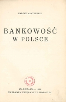 Bankowość w Polsce
