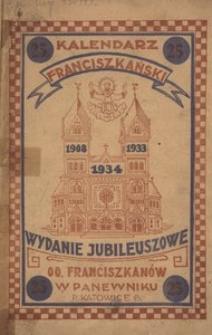 Kalendarz Franciszkański. Na rok 1934, R. 1