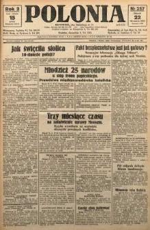 Polonia, 1925, R. 2, nr 257
