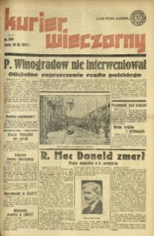 Kurier Wieczorny, 1937, nr 309